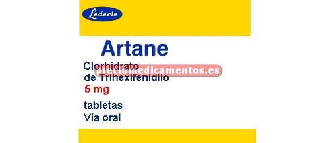 Caja ARTANE 5 mg 25 comprimidos
