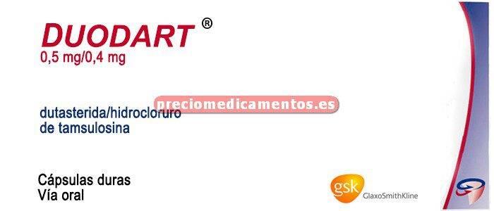 Caja DUODART 0,5/0,4 mg 30 cápsulas