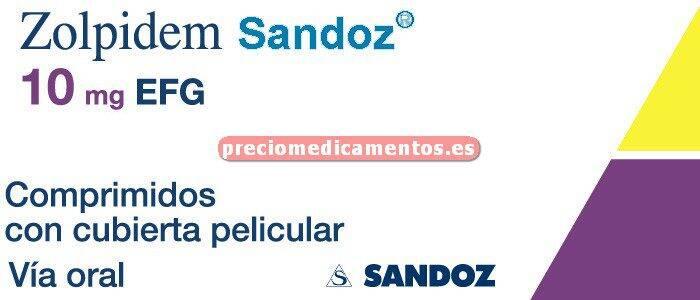 Caja ZOLPIDEM SANDOZ EFG 10 mg 30 comprimidos cub pelic
