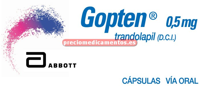 Caja GOPTEN 0.5 mg 28 cápsulas