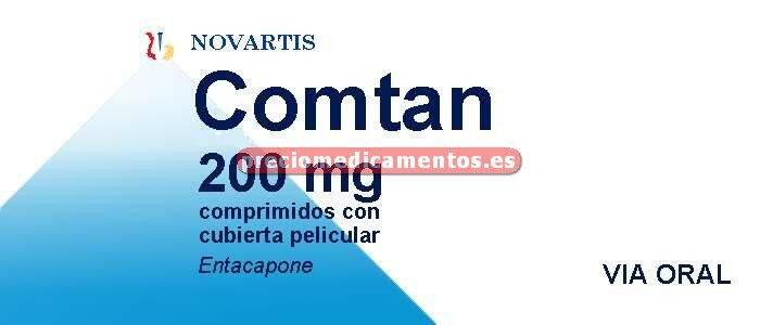 Caja COMTAN 200 mg 100 comprimidos cubierta pelicular
