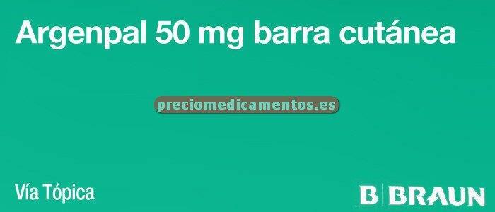 Caja ARGENPAL 50 mg 10 barras cutáneas