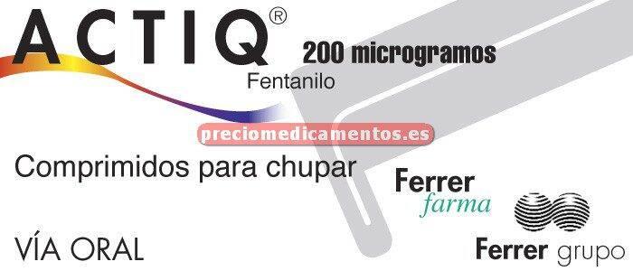 Caja ACTIQ 200 mcg 15 comprimidos para chupar