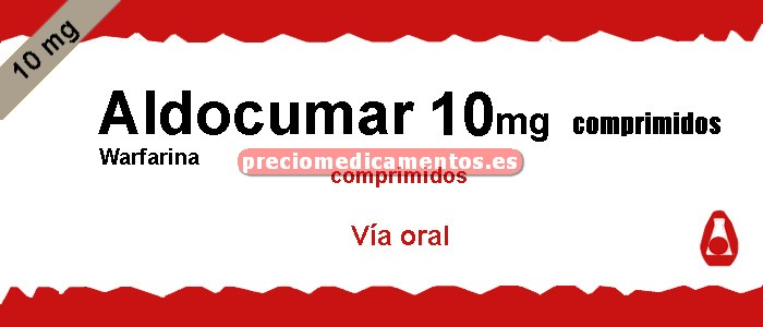 Caja ALDOCUMAR 10 mg 40 comprimidos