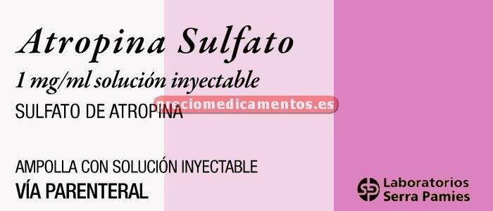 Caja ATROPINA SULFATO SERRA 1 mg 1 ampolla 1 ml