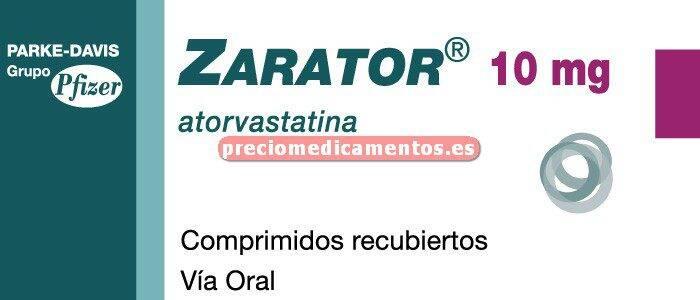 Caja ZARATOR 10 mg 28 comprimidos recubiertos