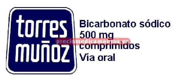 Caja BICARBONATO SOSA TORRES MUÑOZ 500 mg 30 comprim