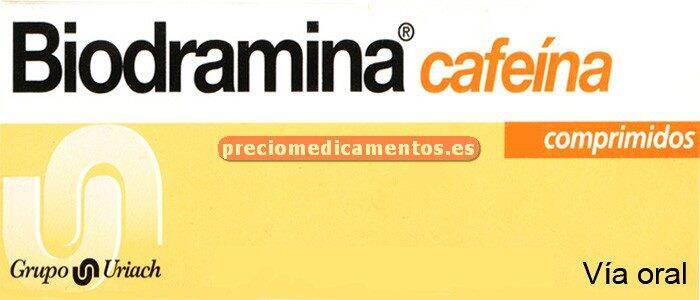 Caja BIODRAMINA CAFEINA 12 comprimidos