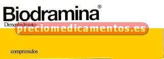 Caja BIODRAMINA 50 mg 12 comprimidos