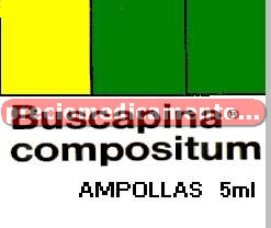 Caja BUSCAPINA COMPOSITUM 20 mg/2.5 g 3 amp 5 ml