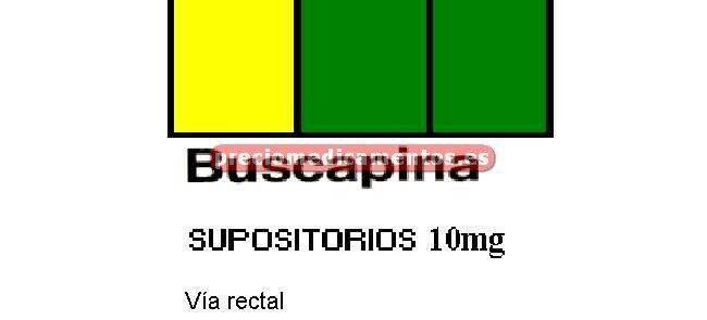 Caja BUSCAPINA 10 mg 6 supositorios