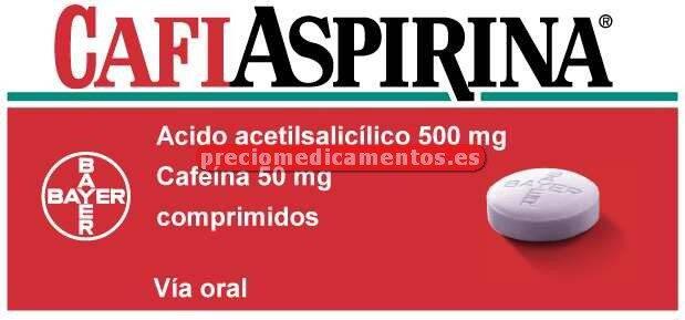 Caja CAFIASPIRINA 500/50 mg 20 comprimidos