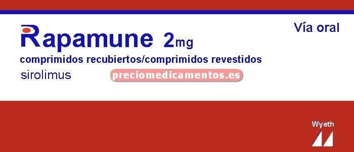 Caja RAPAMUNE 2 mg 30 comprimidos recubiertos