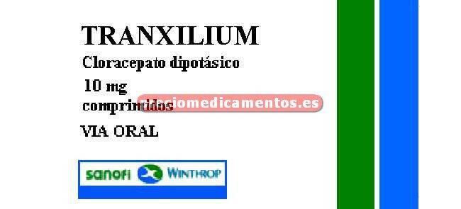 Caja TRANXILIUM 10 mg 30 cápsulas