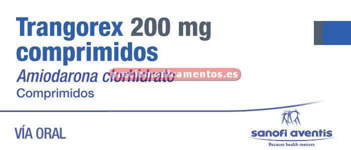 Caja TRANGOREX 200 mg 30 comprimidos