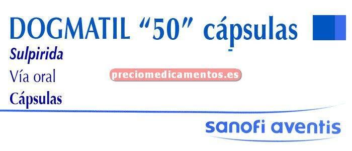 Caja DOGMATIL 50 mg 30 cápsulas