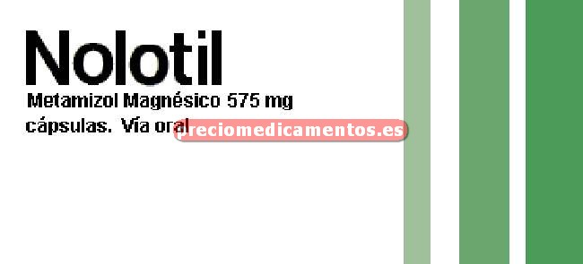 Caja NOLOTIL 575 mg 20 cápsulas duras