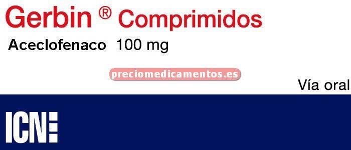 Caja GERBIN 100 mg 20 comprimidos