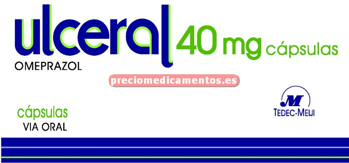 Caja ULCERAL 40 mg 14 cápsulas