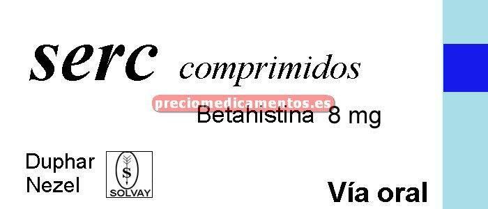 Caja SERC 8 mg 60 comprimidos
