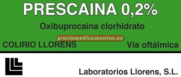 Caja PRESCAINA LLORENS 0.2% colirio 10 ml