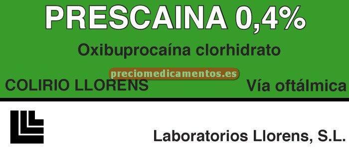Caja PRESCAINA LLORENS 0.4% colirio 10 ml