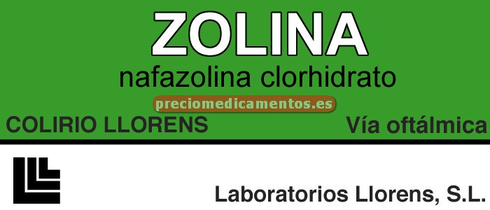 Caja ZOLINA LLORENS 0,1% colirio 5 ml