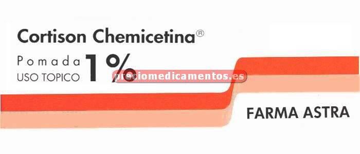 """Caja CORTISON CHEMICETINA TOPICA """"1%"""" pomada 5 g"""