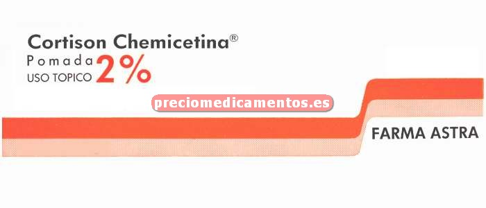 """Caja CORTISON CHEMICETINA TOPICA """"2%"""" pomada 10 g"""