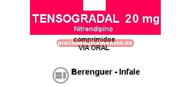 Caja TENSOGRADAL 20 mg 30 comprimidos