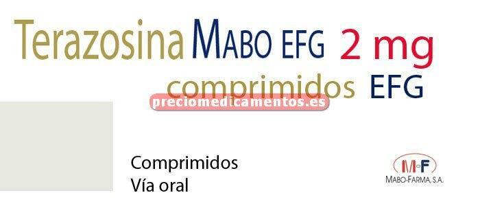 Caja TERAZOSINA MABO EFG 2 mg 15 comprimidos
