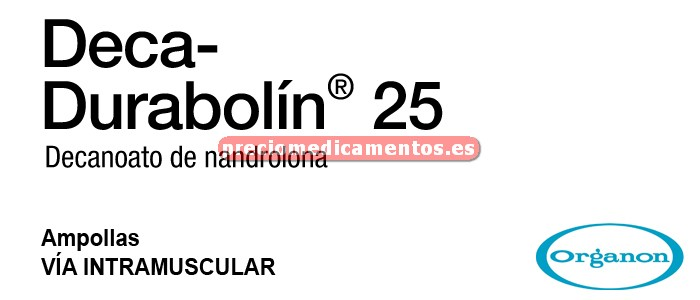 Caja DECA DURABOLIN 25 mg 1 ampolla 1 ml
