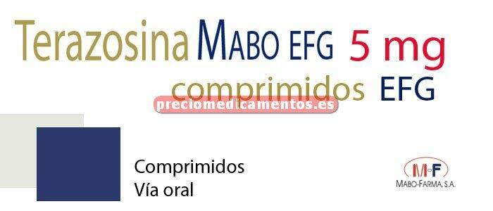Caja TERAZOSINA MABO EFG 5 mg 30 comprimidos