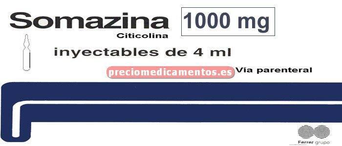 Caja SOMAZINA 1000 mg 10 ampollas 4 ml