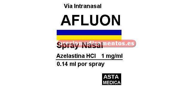 Caja AFLUON 140 mcg/pulsación nasal 10 ml