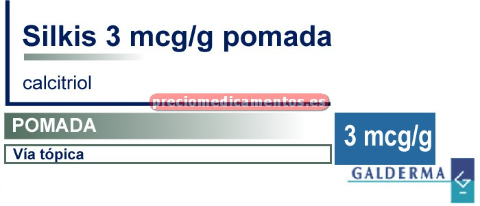 Caja SILKIS 3 mcg/g pomada 100 g