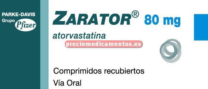 Caja ZARATOR 80 mg 28 comprimidos recubiertos