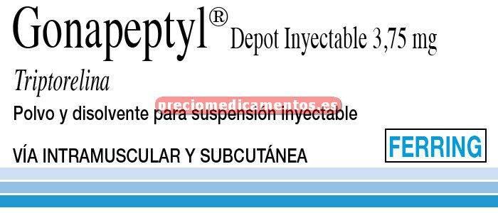 Caja GONAPEPTYL DEPOT 3,75 mg 1 jer prec polvo-disolv