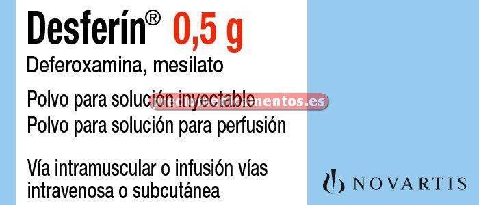 Caja DESFERIN 500 mg 10 viales