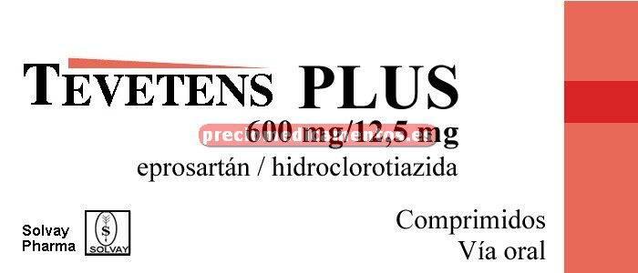 Caja TEVETENS PLUS 600/12,5 mg 28 comprimidos recub
