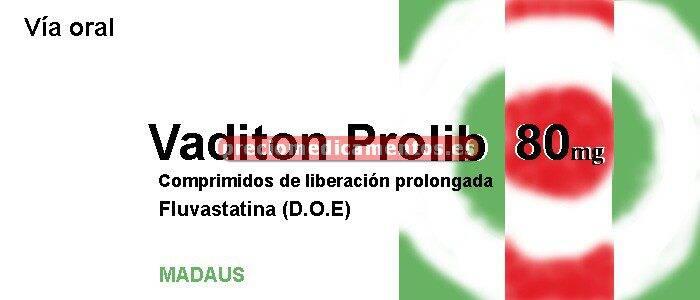Caja VADITON PROLIB 80 mg 28 comprimidos liber prol