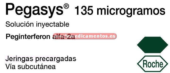 Caja PEGASYS 135 mcg 4 jeringas precargadas + 4 agujas