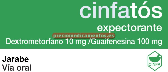 Caja CINFATOS EXPECTORANTE 10/100 mg jarabe 200 ml