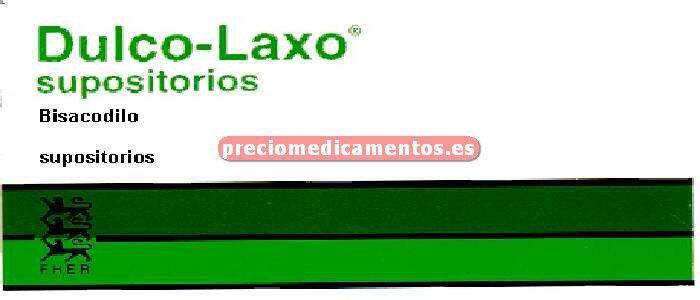 Caja DULCOLAXO BISACODILO 10 mg 6 supositorios