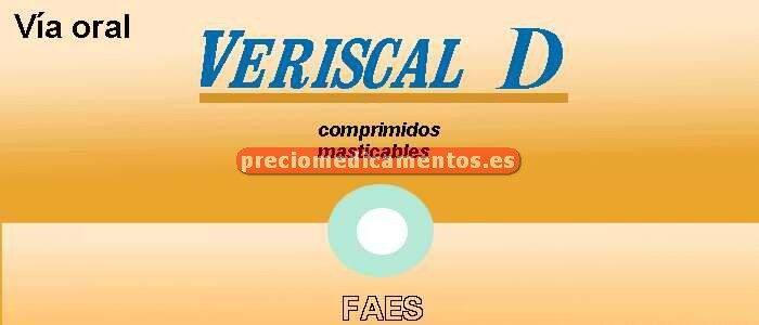 Caja VERISCAL D 1500 mg/400 UI 60 comprimidos mastic