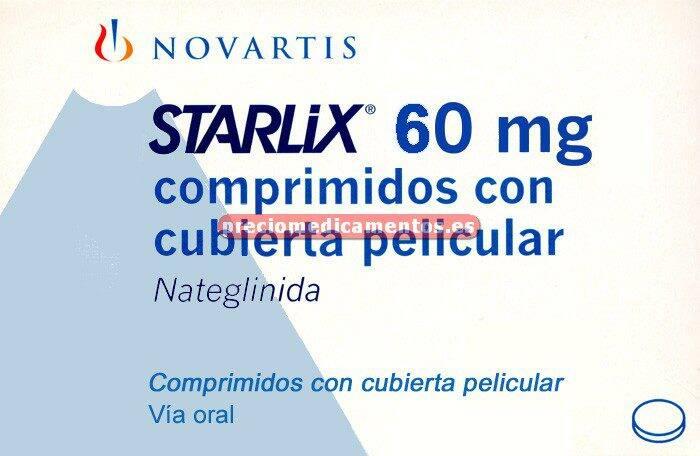 Caja STARLIX 60 mg 84 comprimidos recubiertos