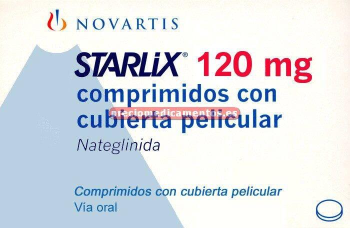 Caja STARLIX 120 mg 84 comprimidos recubiertos