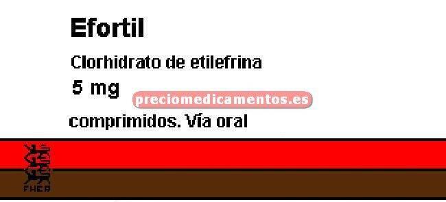Caja EFORTIL 5 mg 20 comprimidos