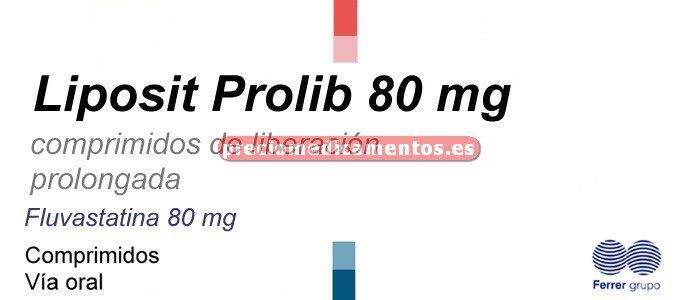 Caja LIPOSIT PROLIB 80 mg 28 comprimidos liber prolongada