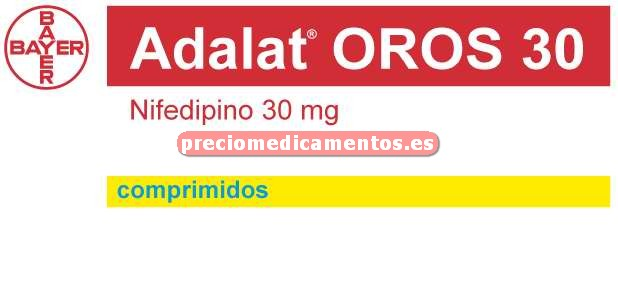 Caja ADALAT OROS 30 mg 28 comprimidos liber prolongada